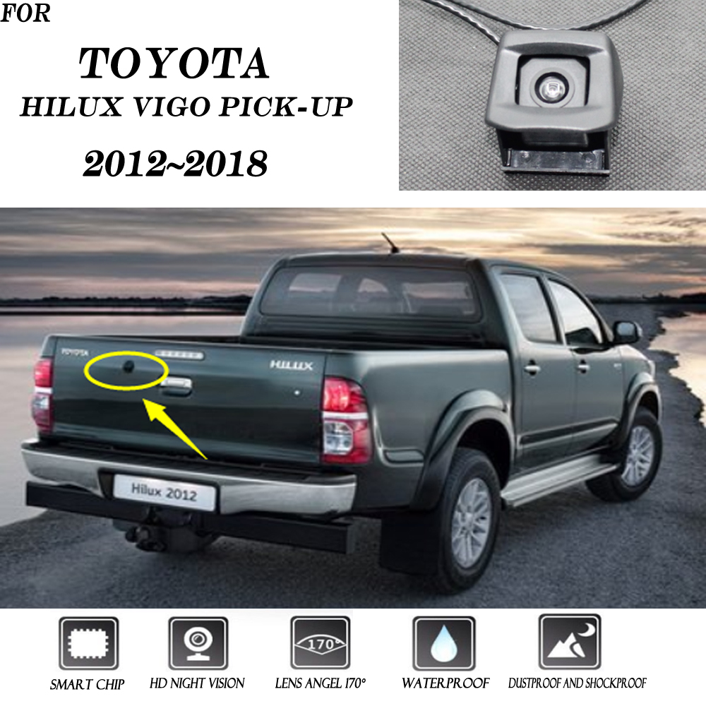 170° HD CCD Car Front View Camera Logo Embedded Waterproof For Toyota Hilux VIGO