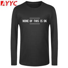 AYYC Длинные рукава футболка 100% хлопковая Одинаковая одежда с круглым вырезом для всей изготовленный на заказ мужские футболки с принтом Фут...