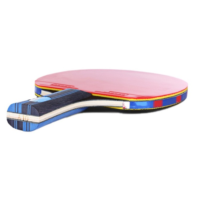 Table Tennis Racket Double Side Pimples-in Rubber Wooden Bottom Ping-pong Bats Racquet Sports Accessories With Balls Bag 3
