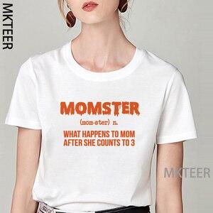 Винтажные Momster с буквенным принтом футболка белого и розового цвета с короткими рукавами женская летняя обувь Топы Ulzzang Harajuku футболка свобо...