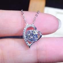 Модная Милая Подвеска из драгоценных камней в форме сердца с