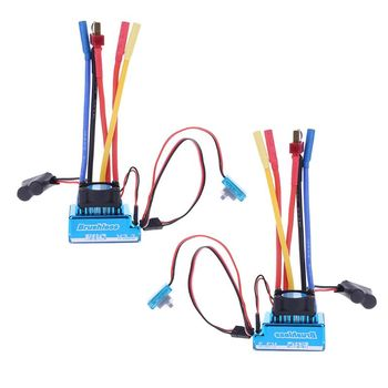 Waterproof 45A 60A 80A 120A Brushless ESC Electric Speed Controller Dust-proof for 1/8 1/10 1/12 RC Car Crawler RC Boat Part image