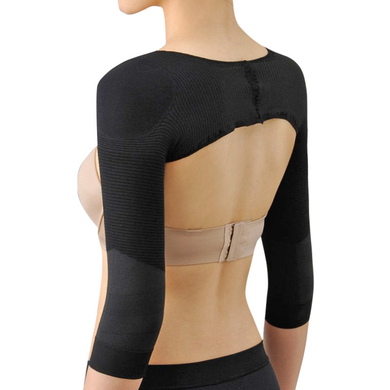 Elastic Compression Arm Slimmer Back Shoulder Corrector Long Sleeve Weight Loss Arm Control Shapewear &T8 image