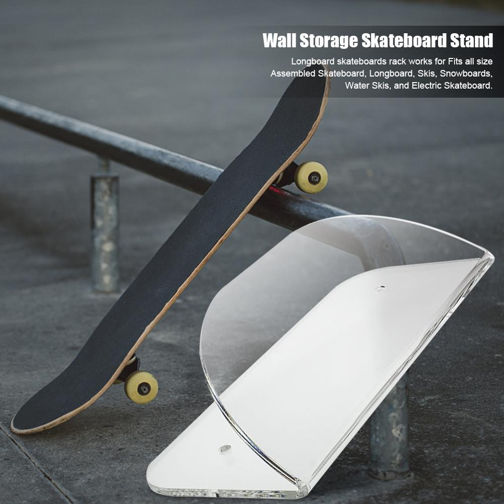 Support Mural en Acrylique pour Skateboard Transparent