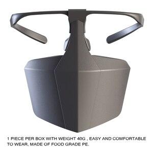 Image 2 - Пластиковая защитная маска от капель противотуманная изоляционная маска для лица воздухопроницаемая многоразовая Защитная крышка изоляционная маска