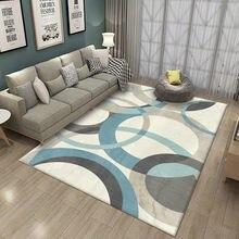 Moderne géométrique tapis antidérapant impression intérieure zone décorative tapis salon chambre lit baie fenêtre canapé tapis d