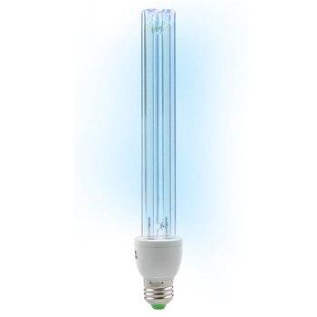 مصباح E27 UVC يعمل بالأشعة فوق البنفسجية ذو أنبوب إضاءة 20 وات مصباح تعقيم يعمل بالأوزون وعث أضواء مبيد للجراثيم مصباح لمبة AC220V 20 وات