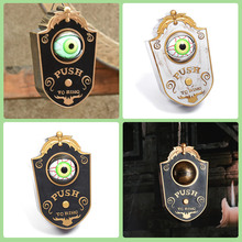 Horror Props Halloween Doorbell One-eyed with Glowing Eyes Scare Voice Magical Haunted House Door Decoration