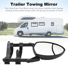 KKMOON Universal Clip On Towing Mirror Caravan Trailer Towing Oval Extension Mirror, Convex (Dual View) Fit for Volvo V70, 1pcs