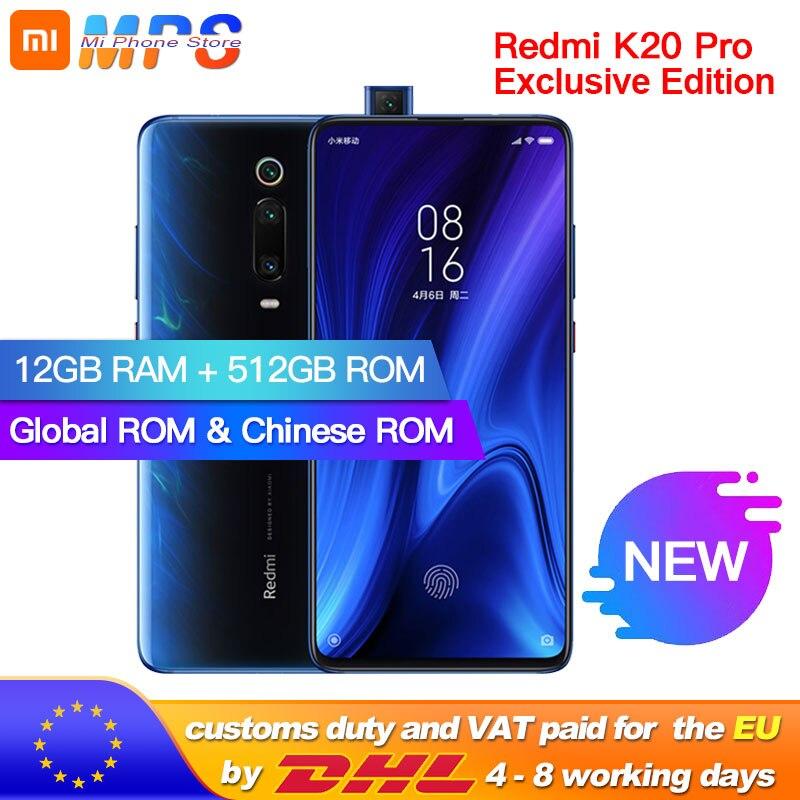 Global ROM Xiaomi Redmi K20 Pro 512GB 12GB Exclusive Edition Mobilephone Snapdragon 855 Plus 4000mAh 48MP Triple Cameras 6.39''