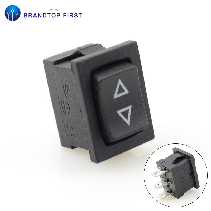 21*15mm Momentary self-reset Rocker switch (ON)-OFF-(ON) 3pins(China)