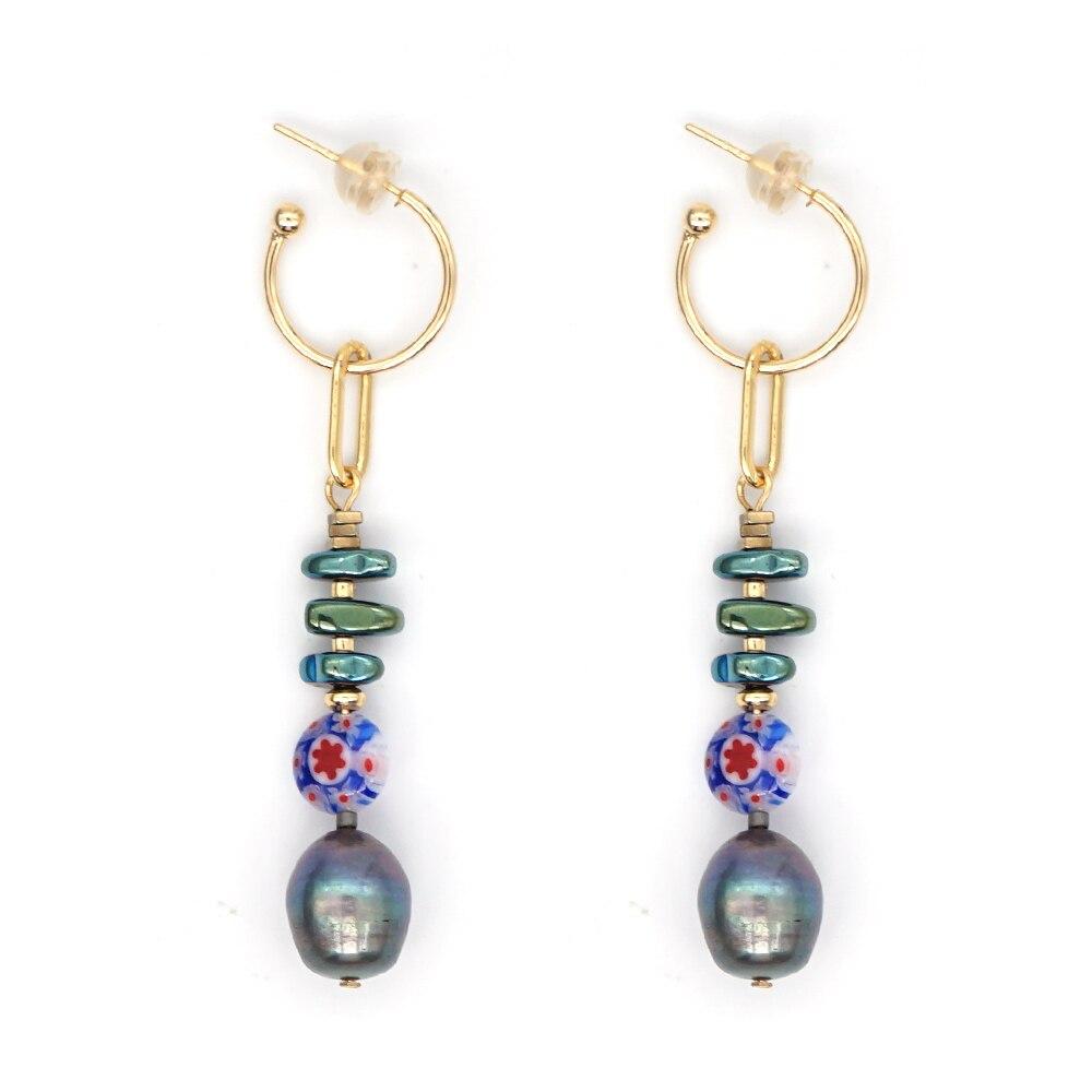 Go2Boho Earring For Women Accessories Danglers 2020 Earrings Black Freshwater Pearl Moda Mujer Fashion Popcorn Bead Jewelry