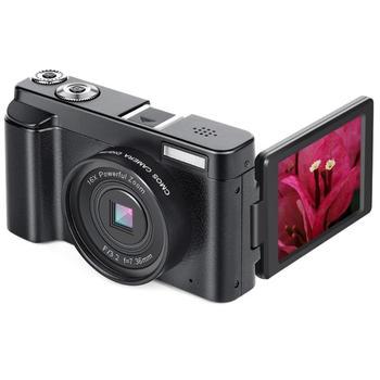 ALLOET P11 3.0 inch Flip Screen Digital Camera Full HD 1080P 24MP 16X Zoom CMOS Video Camera USB2.0 HDMI WiFi Camera DV Recorder