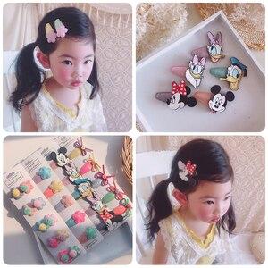 5/10 pçs/set crianças bonito dos desenhos animados fruta flor hairpins girlsprinted padrão clipes de cabelo do bebê acessórios para o cabelo