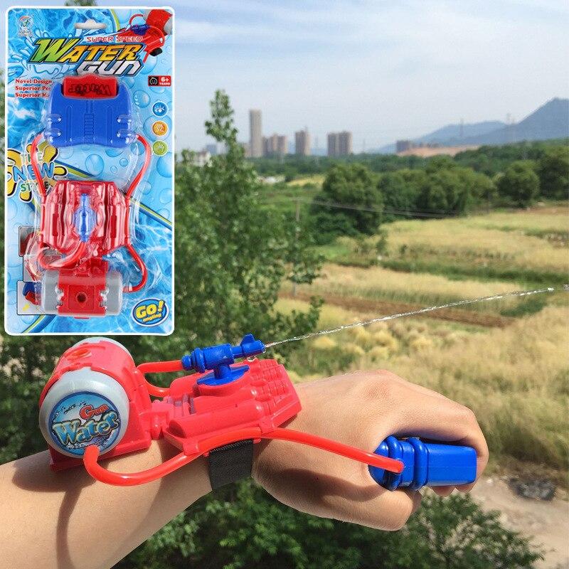 Wrist Water Spray Gun Summer Beach Outdoor Shooting Toy Playing Water Gun Plastic Water Gun Fighter Children Toy Birthday Gift