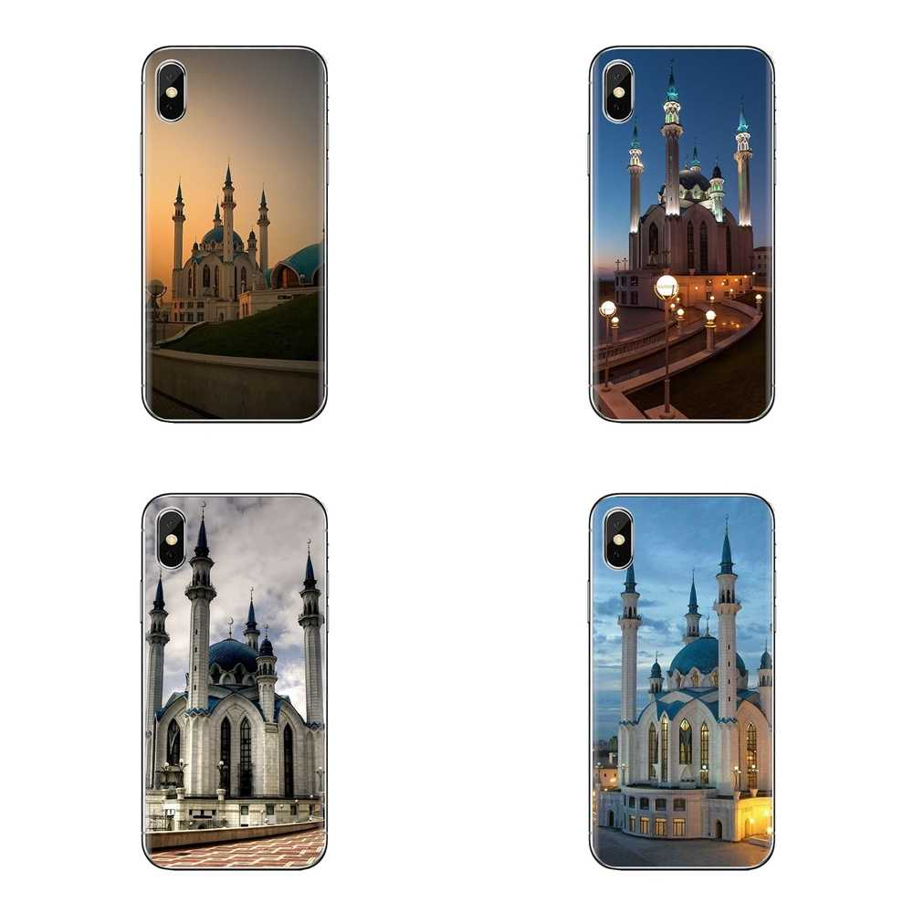 Qolsharif Mosquée Kazan Russie TPU Sac étui pour samsung Galaxy S2 S3 S4 S5 MINI S6 S7 bord S8 S9 Plus Note 2 3 4 5 8 Coque Fundas
