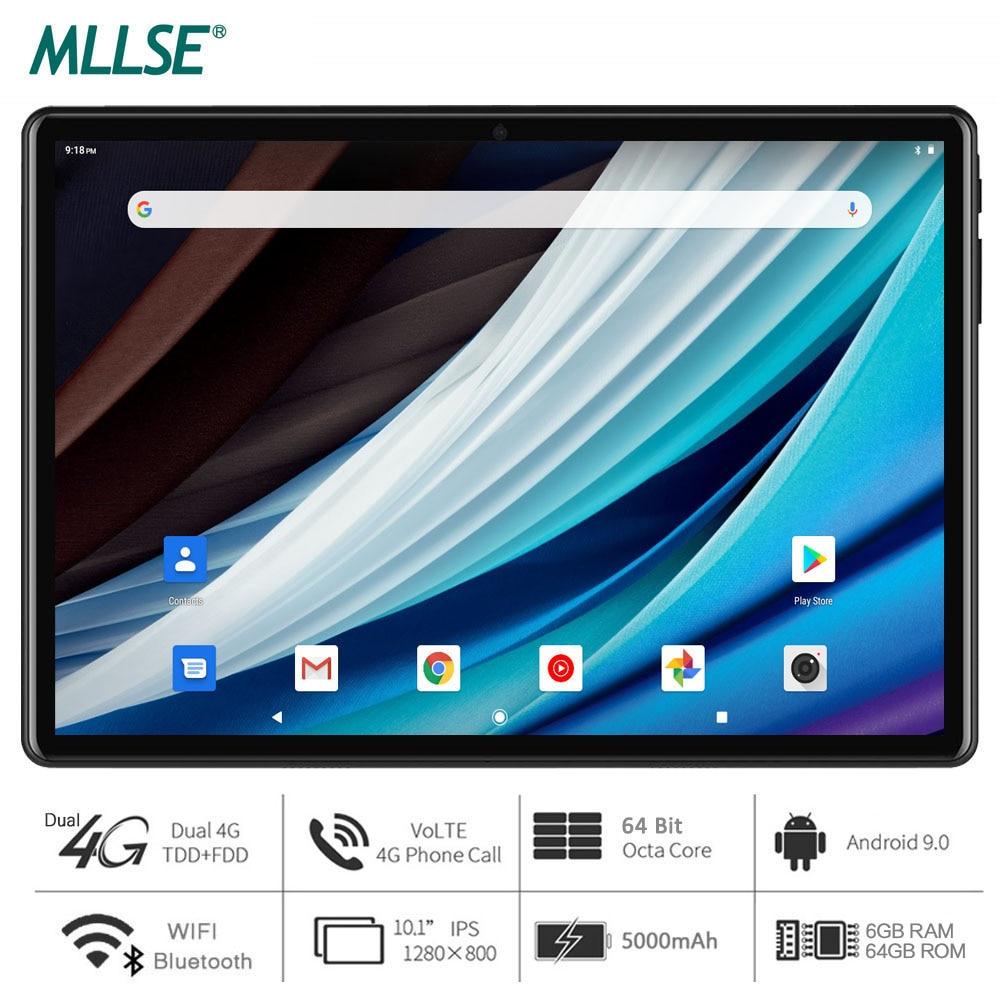 Mllse tablet, processador de núcleo octa, 6gb ram, 64gb de armazenamento, android 9.0 torta, 10 polegada tablet, 1280x800 ips, wi-fi, usb tipo c