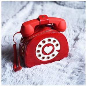 Image 4 - חדש עיצוב כיף בציר מתוקה טלפון סגנון נשים ארנקי תיקי כתף תיק 2020 אופנה Crosbody תיק לילדה