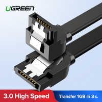 Ugreen Cavo SATA 3.0 Hard Disk Drive HDD SSD Sata 3 Diritto Ad angolo retto del Cavo per Asus MSI scheda Madre Gigabyte Cavo Sata