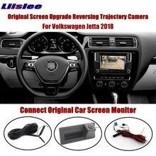 Liislee For Volkswagen Jetta 2018 Connect Original Screen Monitor Trunk Handle Reverse Camera Intelligent Dynamic Trajectory