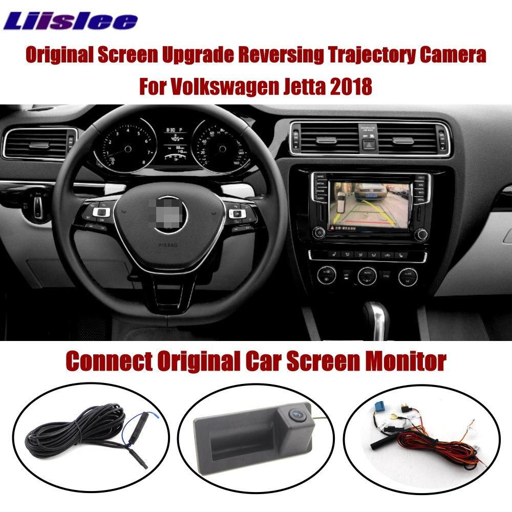 Otomobiller ve Motosikletler'ten Araç Kamerası'de Liislee için araç arka kamera Volkswagen VW Jetta 2018 2019 Connect orijinal monitör gövde kolu ters kamera dinamik HD CC CAM title=