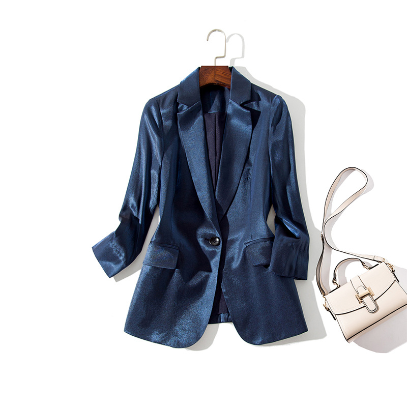 Women Clothes High-end Versatile Professional Solid Color Temperament Thin Women Small Suit Jacket Female Women Suit Jacket