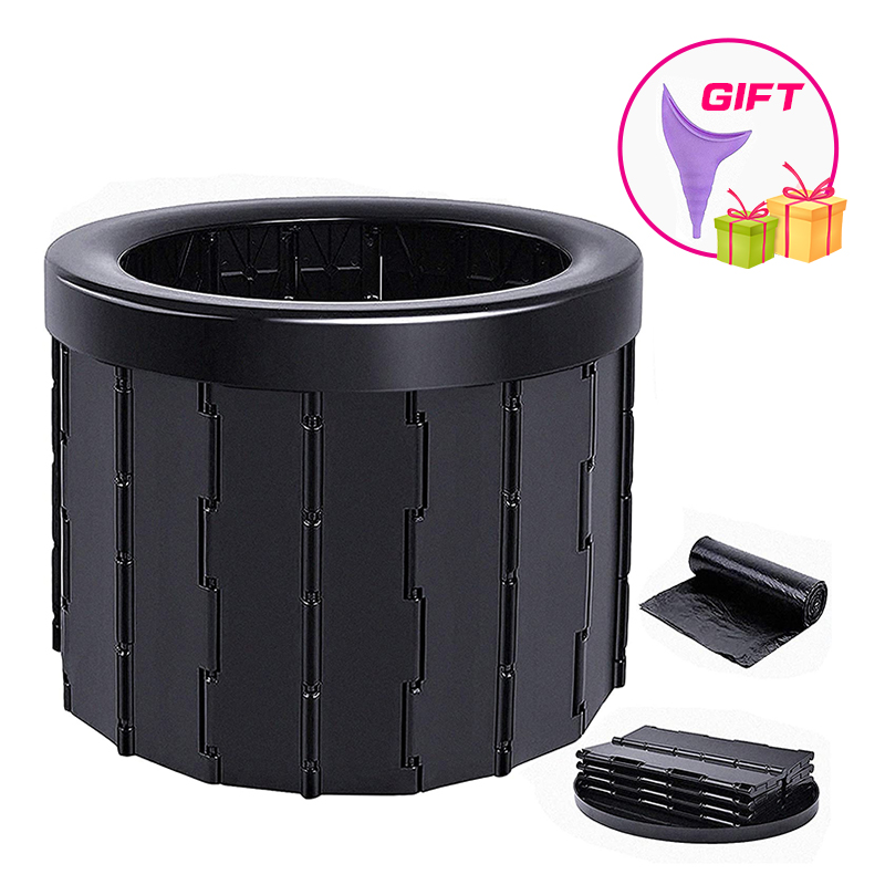 Portable Folding Toilet Commode Porta Potty Car Toilet Camping Toilet for Travel Bucket Toilet Seat for Camping Hiking Long trip 1