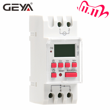 GEYA THC-15 Time Switch Weekly Programmable DIN Rail LCD Digital Timer Switch 16A ACDC 12V 24V 110V 220V 240V sinotimer ac dc 24v weekly 7 days programmable digital time switch relay timer control din rail mount for electric appliance