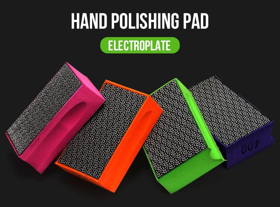 Hand polishing pad diamond electroplated for polishing glass and iron steel