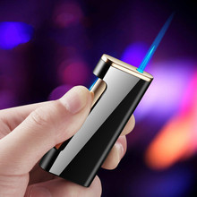 New Business Cigarette Lighter Straight Fire The Windproof Lighter Men Butane Turbo Torch Metal Cigar Lighter cigar spray lighter windproof and blue fire pipe lighter cigar cigarette lighter men s business gift