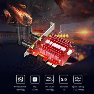 EDUP 3000 Мбит/с WiFi 6 PCI Express Bluetooth 5,0 адаптер двухдиапазонный 2,4G/5GHz 802.11ac/ax Intel AX200 PCIe беспроводная сетевая карта