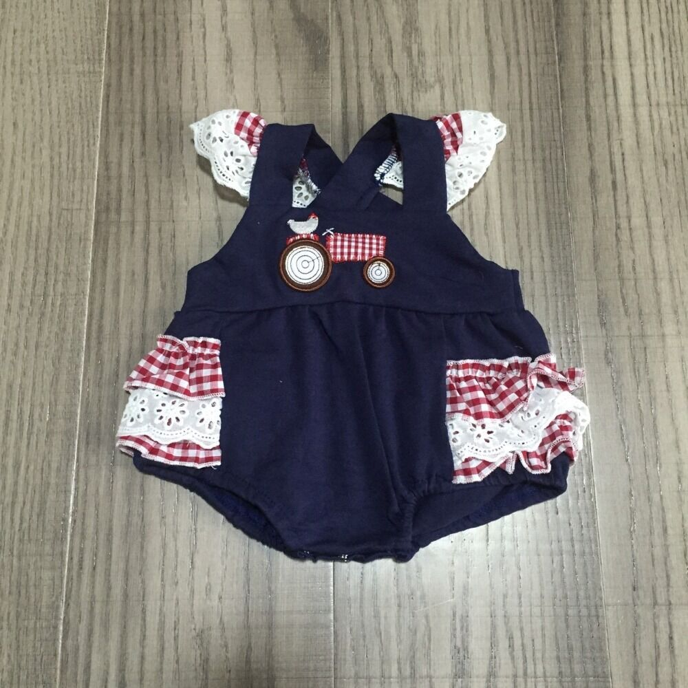 Baby Girls Clothes Baby Farm Clothes Infant Baby Romper Girls Chook Truck Romper Baby Cotton Romper Wholesale