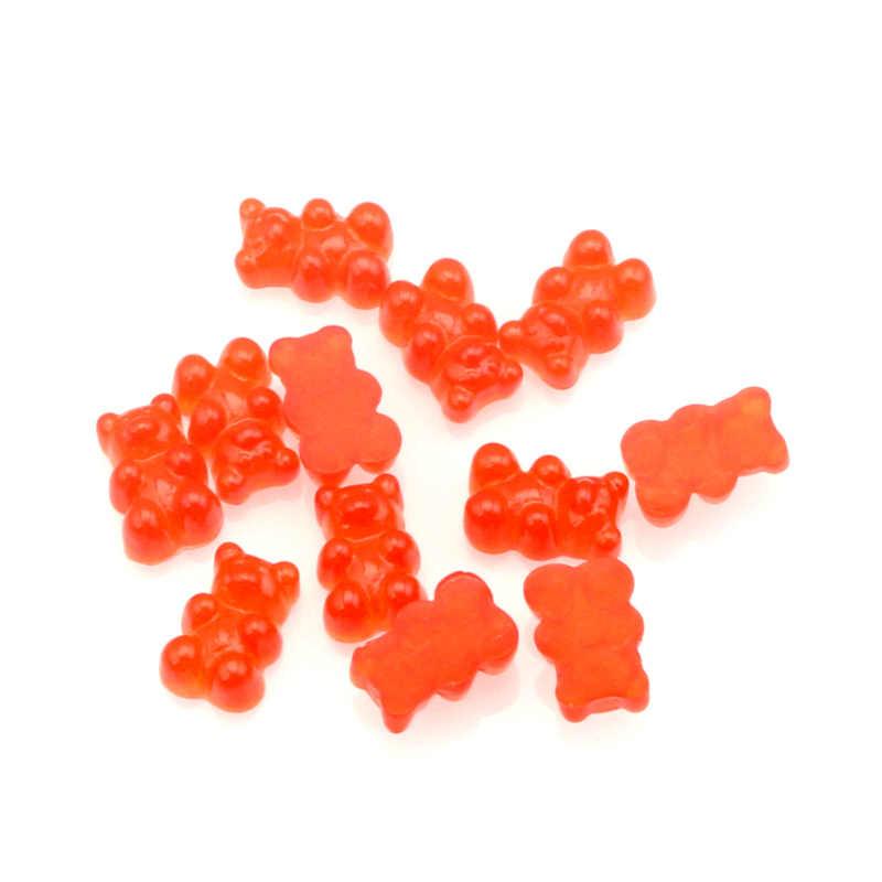 Adornos de resina mixta LF 50 Uds. De 17x11mm, adornos de oso para manualidades, cabujón plano, adornos DIY para Scrapbooking, accesorios