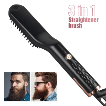 3 in 1 Multifunctional Hair Comb Brush Beard Straightener Hair Straighten Straightening Comb Hair Curler Quick Hair Styler
