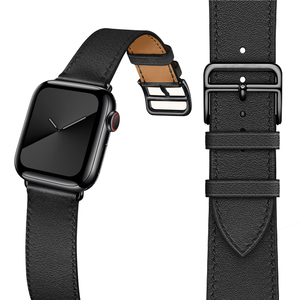 Image 1 - הכי חדש אמיתי עור שעון רצועת עבור אפל שעון סדרת 5 4 40mm/44mm להקת שעון צמיד רצועת השעון עבור אפל שעון סדרת 3 2
