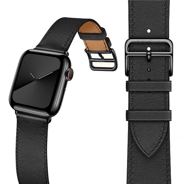 הכי חדש אמיתי עור שעון רצועת עבור אפל שעון סדרת 5 4 40mm/44mm להקת שעון צמיד רצועת השעון עבור אפל שעון סדרת 3 2