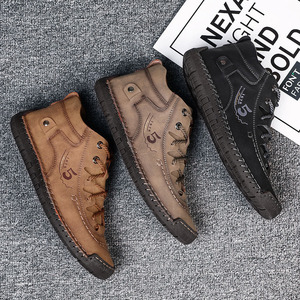 Image 2 - SKRENEDS flambant neuf confortable hommes chaussures décontractées hommes chaussures qualité en cuir chaussures plates pour homme mocassins chaussures grande taille 38 48