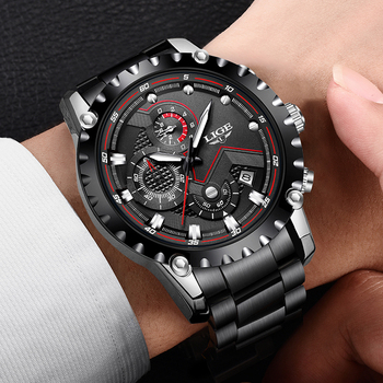 LIGE Top Brand Luxury Mens Fashion Watch Men Sport Waterproof Quartz Watches Men All Steel Army Military Watch Relogio Masculino 5