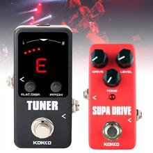 Mini Electric Guitar Bass Effect Pedal Tuner / Supa Drive True Bypass Full Metal Shell  Guitar Effects nux pt 6 chromatic pedal tuner with metal casing true bypass guitar accessories music instrument