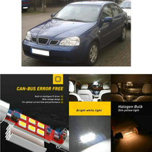 LED Interior Car Lights For DAEWOO nubira j100 hatchback saloon estate saloon j200 tacuma u100 Dome map lamp bulb error free