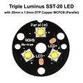 Тройной светильник SST-20 светодиодный излучатель с 20 мм x 1 5 мм медная печатная плата (параллельная) с оптикой