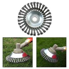 8 Inch Carbon Trimmer Head Steel Wire Break-Proof Rounded Edge Weed Trimmer Head Power Lawn Mower Garden Weed Brush Lawn Mower