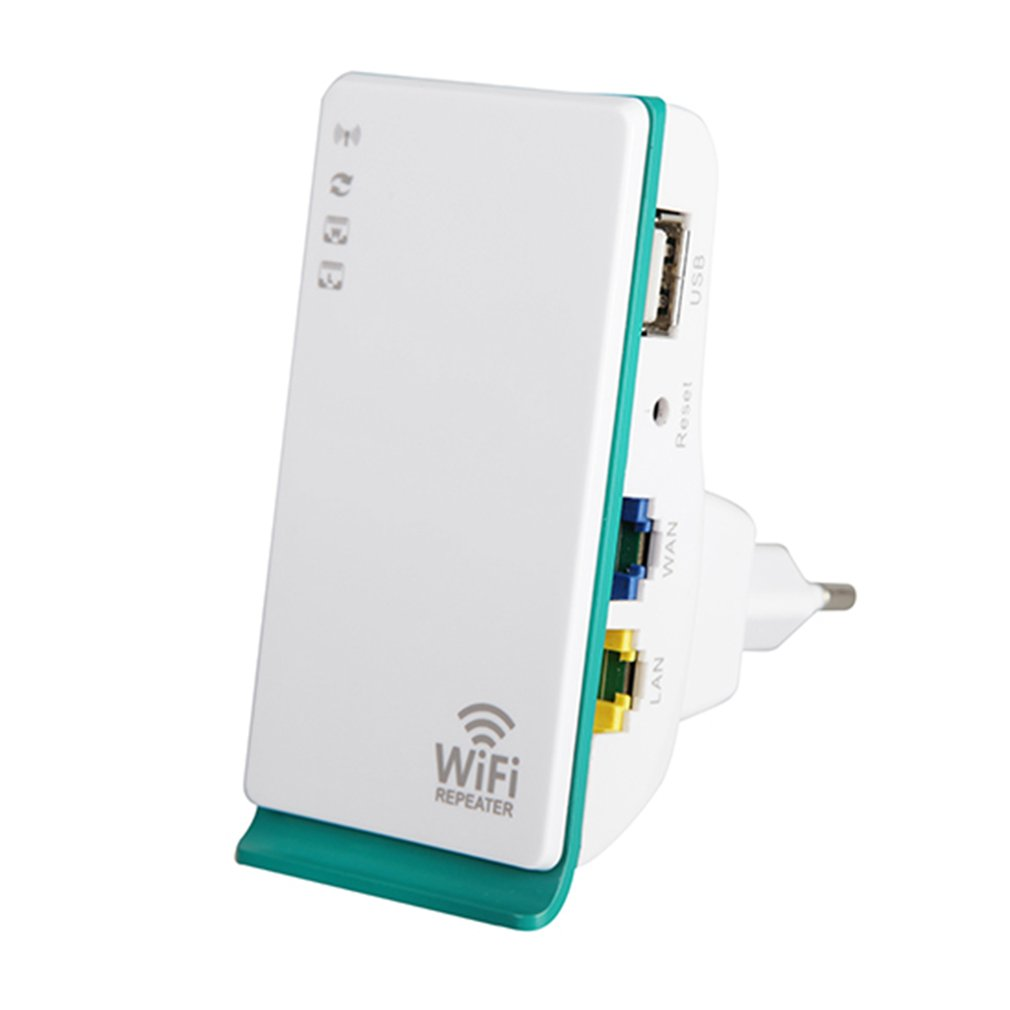 WiFi Repeater 300Mbps 2.4GHz 2 Ports Wireless-N Router Signal Booster Extender Mini Pocket Amplifier For Home Travel EU Plug
