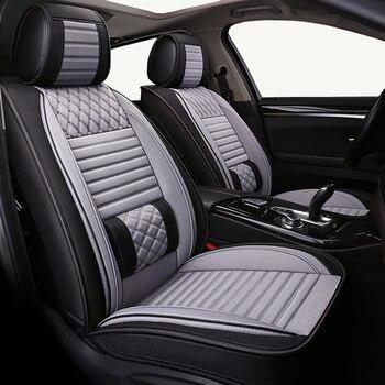 (Front+Rear) car seat cover For Ssang yong rexton tivolan xlv kyron,acura ilx mdx rdx rlx tlx tsx zdx of 2018 2017 2016 2015