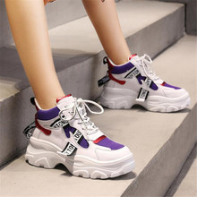 Fashion Platform Sneakers Breathable Mesh Chunky Sneakers for Women Basket Femme