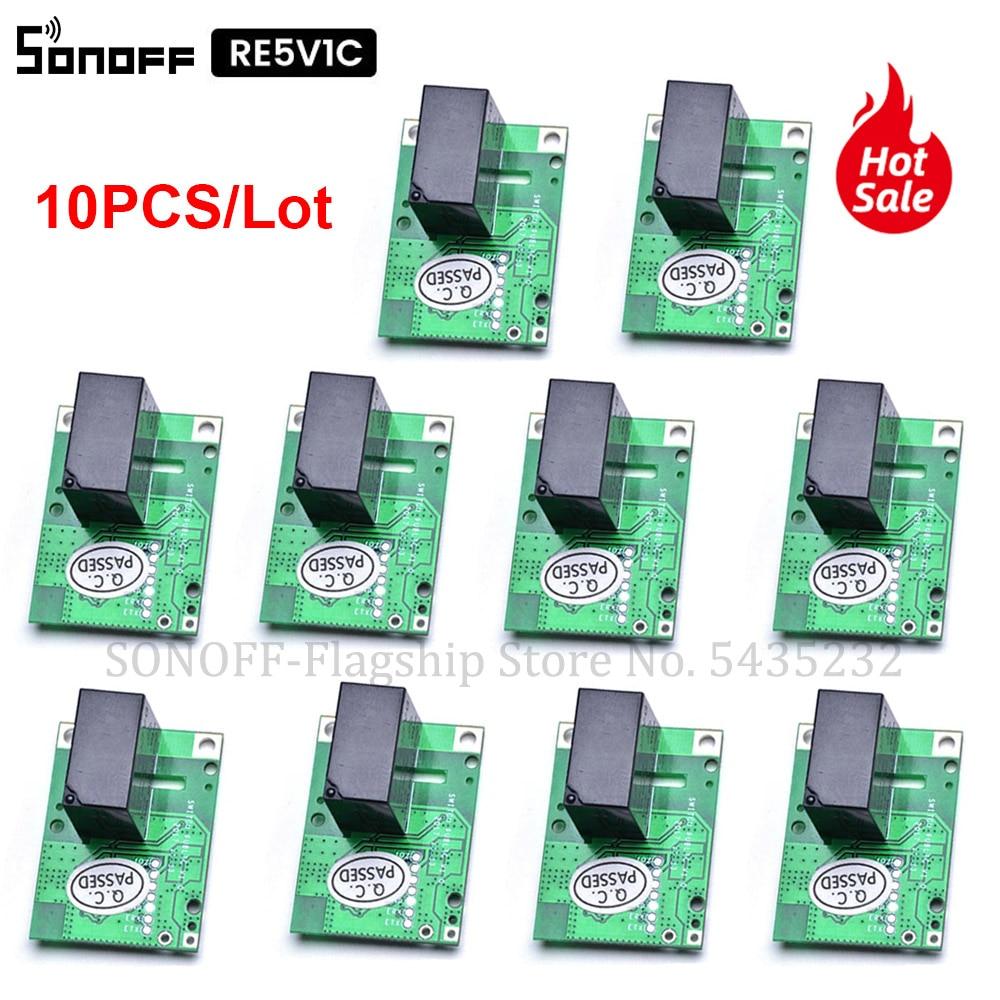 1 /10 шт. Itead SONOFF умный Wi-Fi переключатель RE5V1C 5 в постоянного тока DIY беспроводной дистанционный переключатель релейный модуль ввод/самоблокиро...