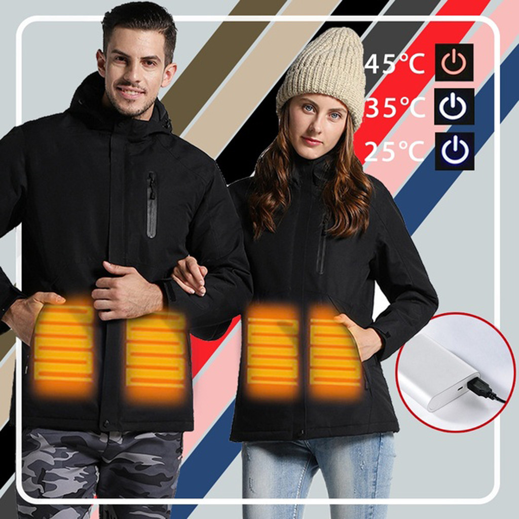 Electronic Heating Jackets USB Waterproof пальто Fashion Multi Color Coat куртка женская chaqueta mujer куртки женские 2019