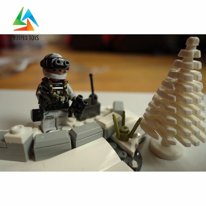 290Pcs XINGBAO Building Blocks XB-06009 Across The Battlefield:Extreme Snowmobiling Model Children Toys Bricks 4Px To DE 1