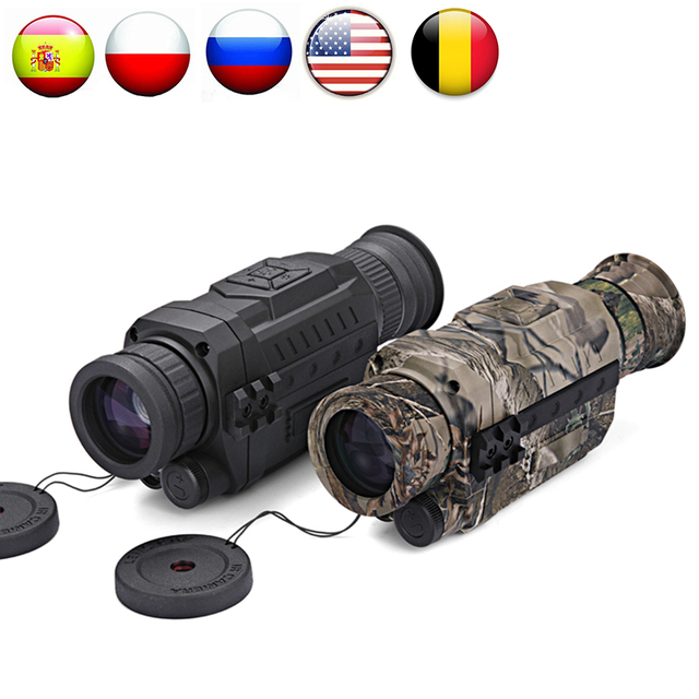 WG535 Digital Night Vision Monoculars 200m full dark DVR NIght Vision Scope 5X Optical Magnification Photo Video Hunting Cameras 2