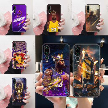 Basketball King 23 James Phone case For Huawei P Mate Y3 Y9 10 20 30 40 Smart Z Pro Lite 2017 2019 black soft hoesjes luxury image